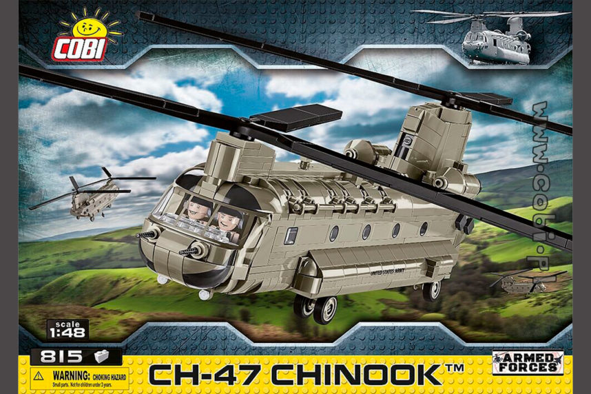 Der CH-47 Chinook ist endlich erhältlich (© Cobi)