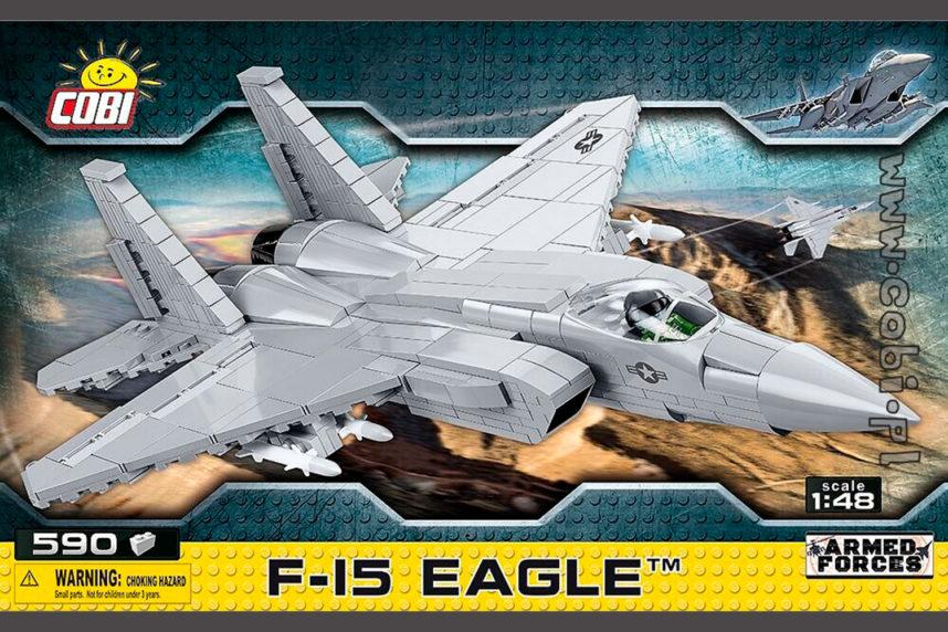 Die F-15 Eagle - ebenfalls endlich erhältlich (© Cobi)