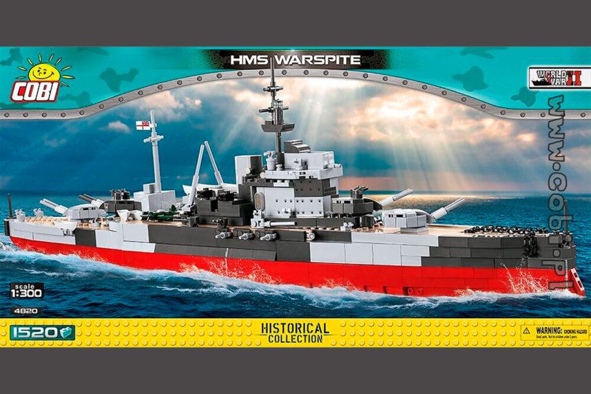 Die HMS Warspite ist bereits erhältlich (© Cobi)