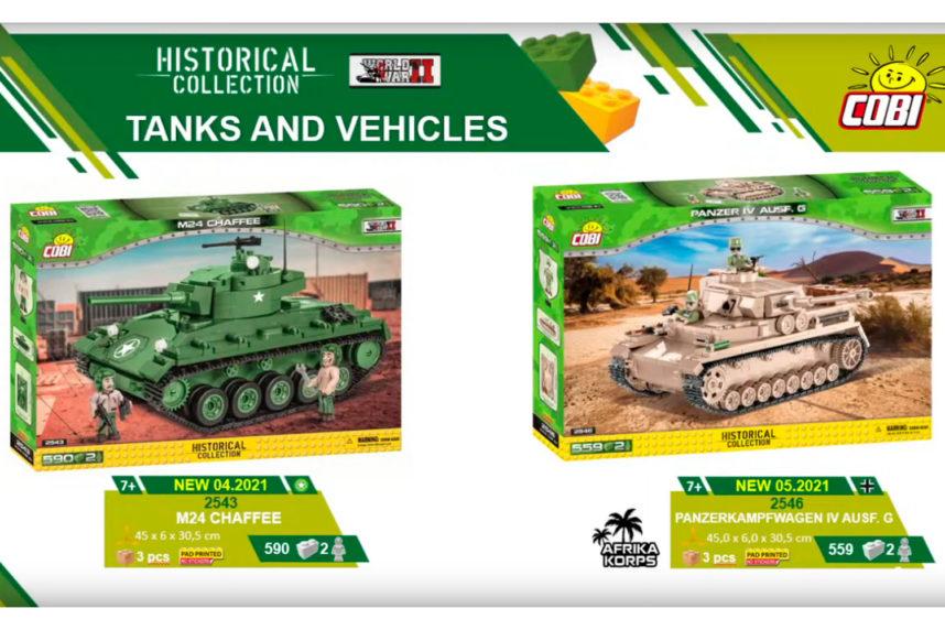 Der M24 Chaffee und der Panzerkampfwagen IV in Ausführung G (© Cobi)