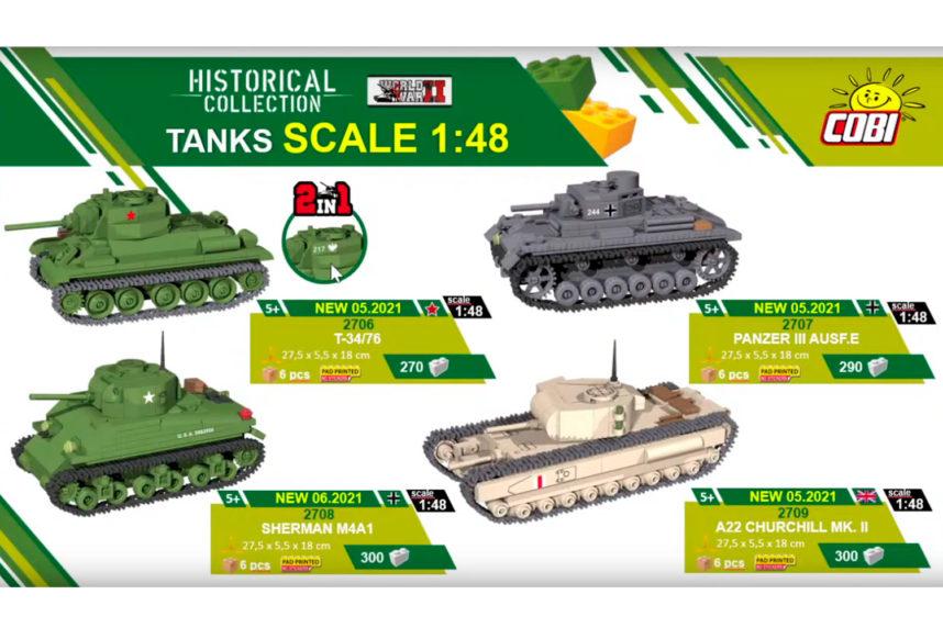 Neue Panzer im Maßstab 1:48 (© Cobi)