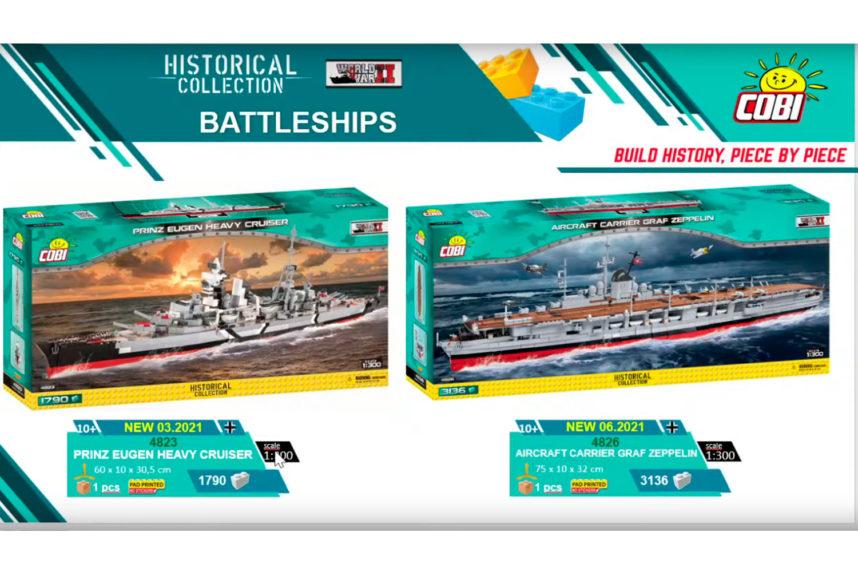 Die Prinz Eugen und die Graf Zeppelin (© Cobi)