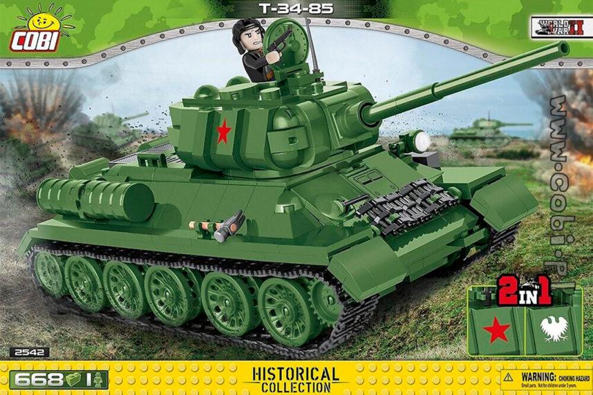Der T-34-85 - verschoben und doch erhältlich (© Cobi)