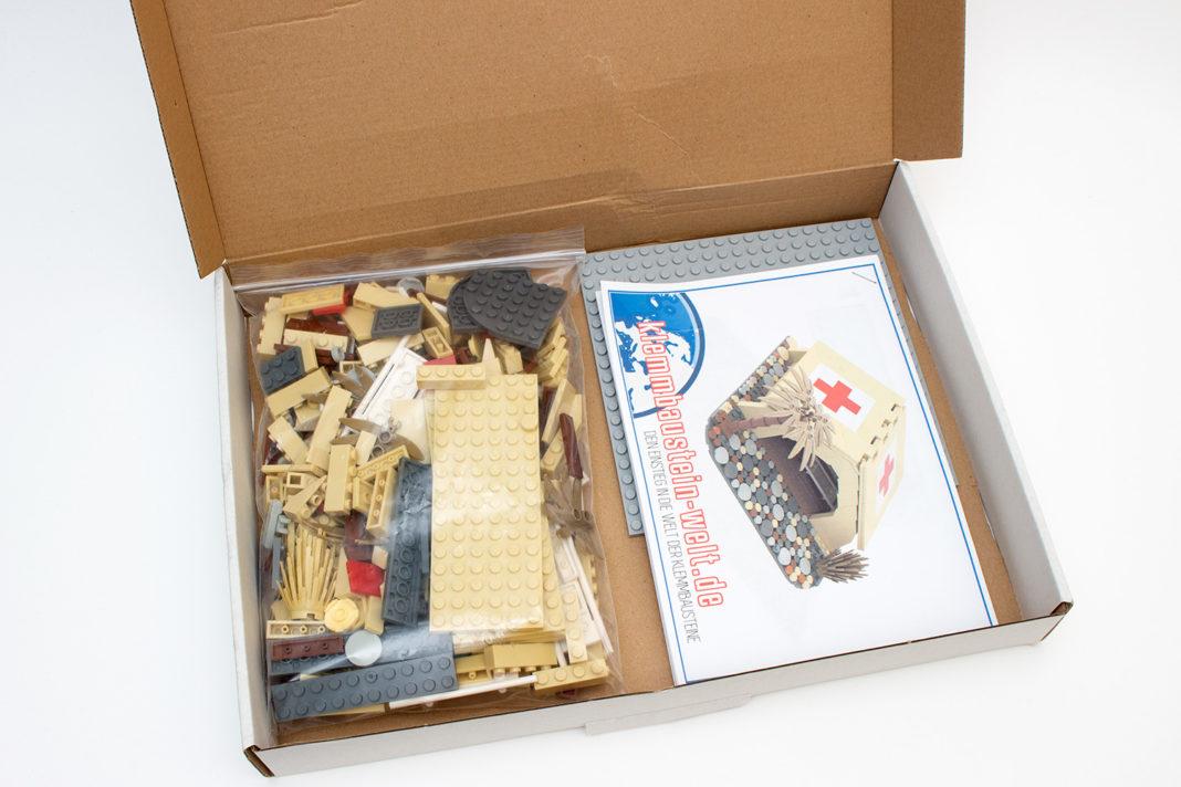 Ein aufgeräumter Karton mit wenig Abfall