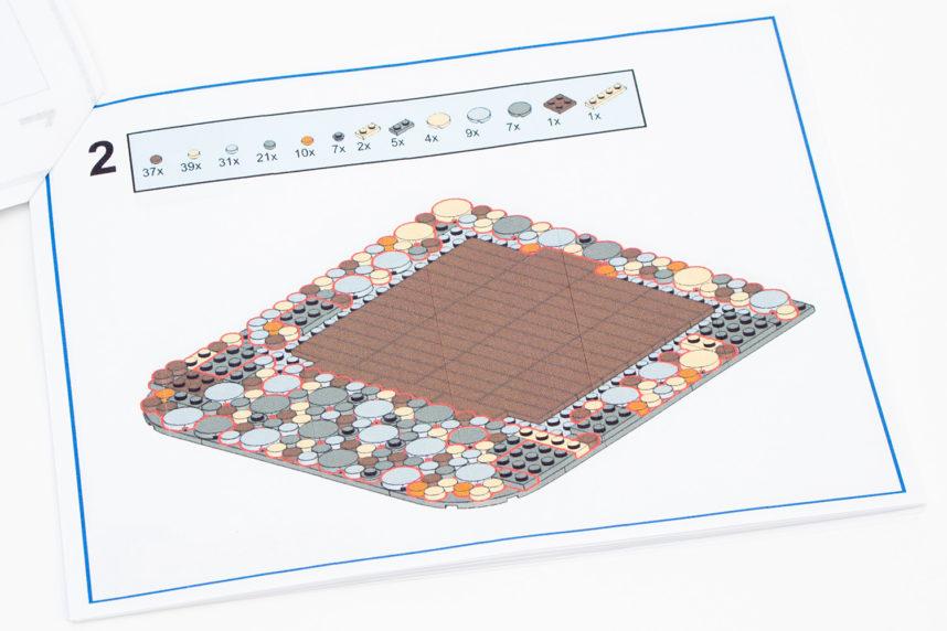 Die farbig gedruckte Bauanleitung ist einfach gehalten, aber verständlich aufgebaut