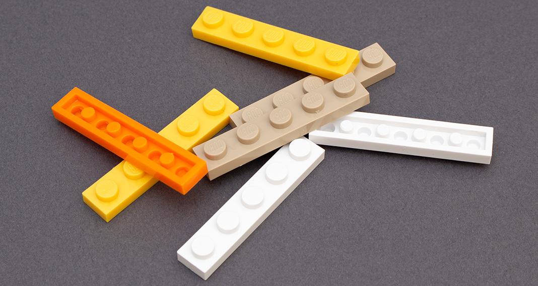 Lego gibt Geschmacksmusterschutz für 1 × 5 Plate und ein weiteres Design auf
