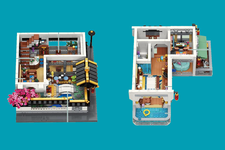 Die beiden detaillierten Stockwerke des Modulars