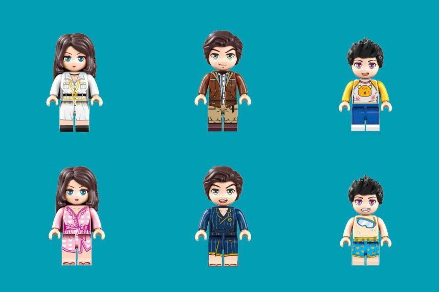 Minifiguren mit unterschiedlichen Outfits