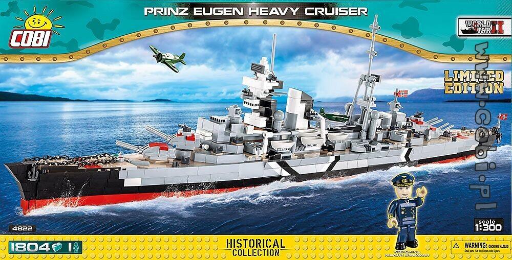 """Die """"Prinz Eugen"""" mit limitierter Figur von Vizeadmiral Helmuth Brinkmann"""