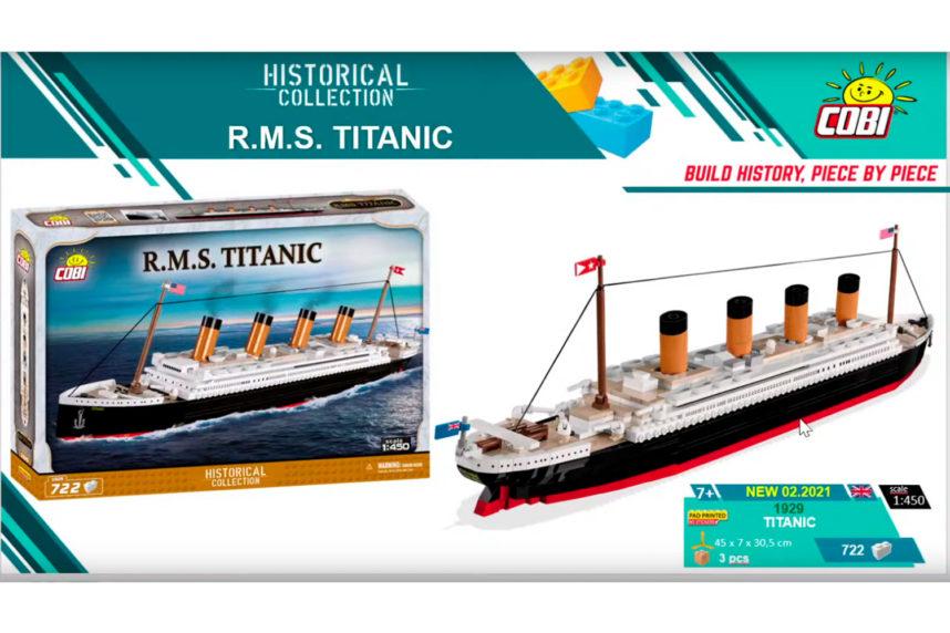 Die R.M.S. Titanic - gleicher Maßstab, weniger Teile (© Cobi)