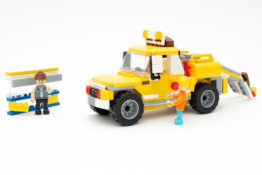 Der fertige Abschleppwagen