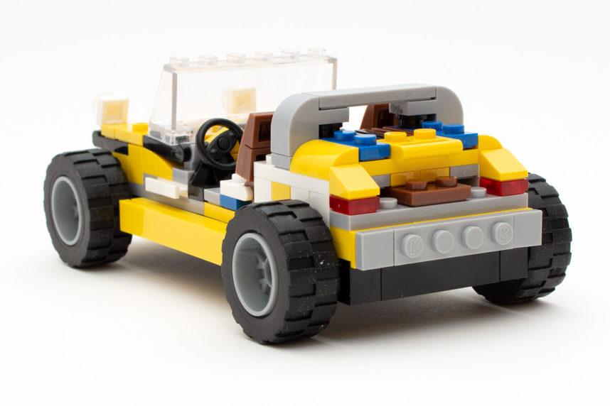 Das Heck des Sportwagens