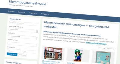 Klemmbausteine-Markt als Plattform für gebrauchte Bausteine