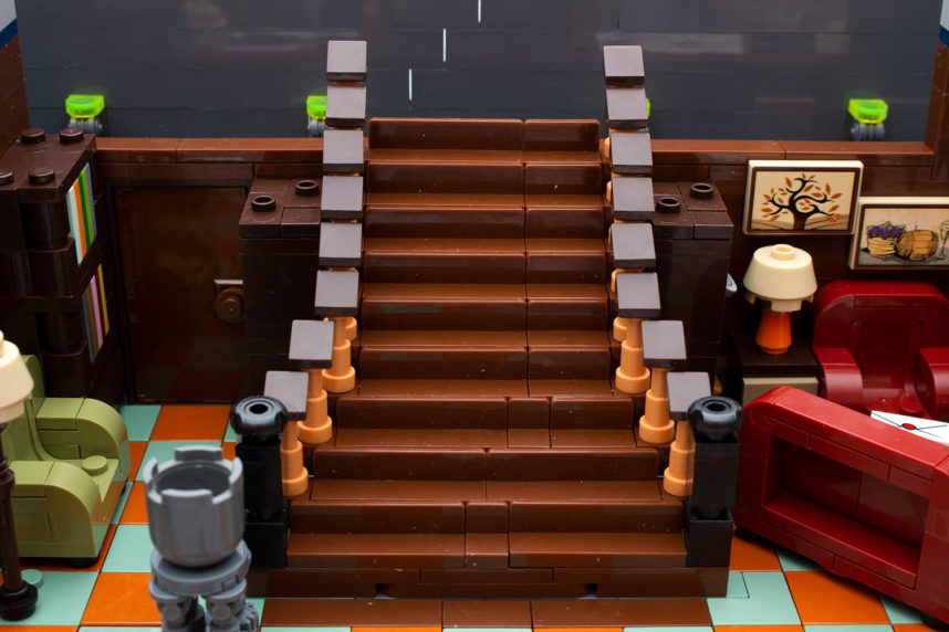 Die Treppe ist einfach gefertigt, aber verfehlt ihre Wirkung nicht