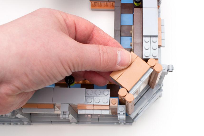 Interessante Bautechnik zur Stabilisierung der diagonalen Wandteile