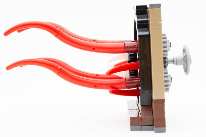 Die Tentakeln lassen sich über einen einfachen Mechanismus drehen
