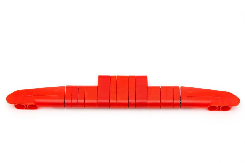 Bei den roten Teilen sind Farbabweichungen zu erkennen