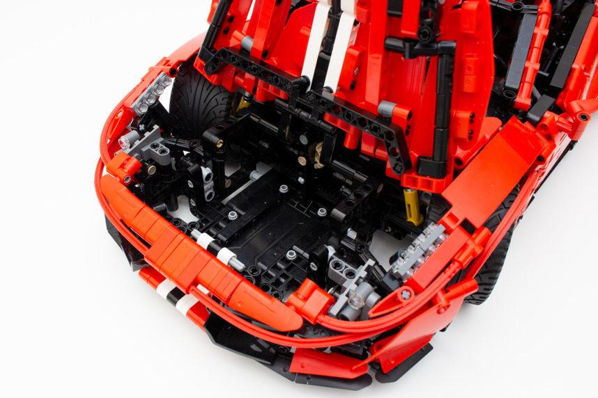 Hier findet bei der motorisierten Variante der Akku-Block seinen Platz