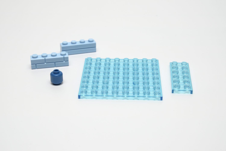 Einige interessante Steine aus dem Set die bei Lego selten oder überhaupt nicht verfügbar sind