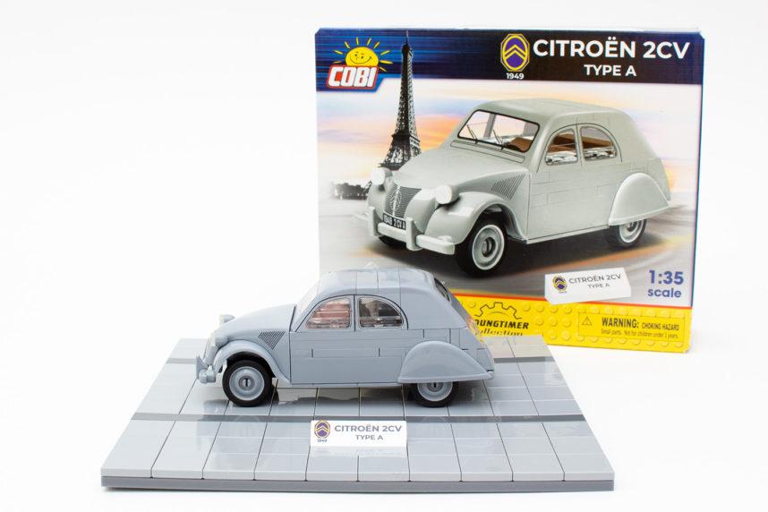 Das fertige Modell des Citroën 2CV Typ A