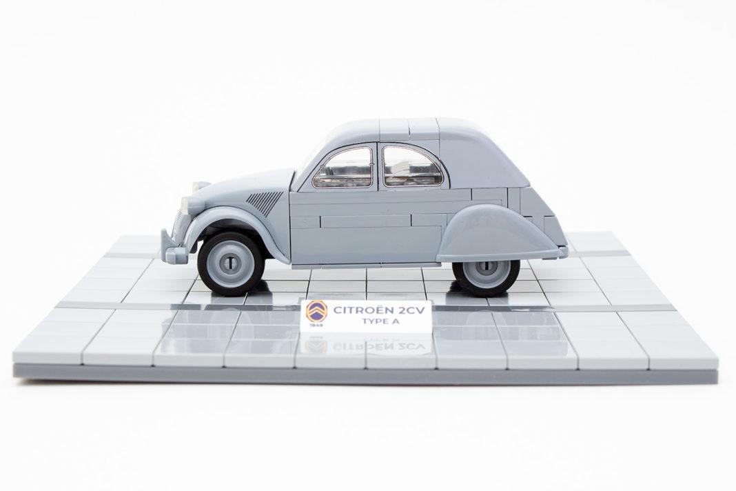 Das fertige Modell des Citroën 2CV