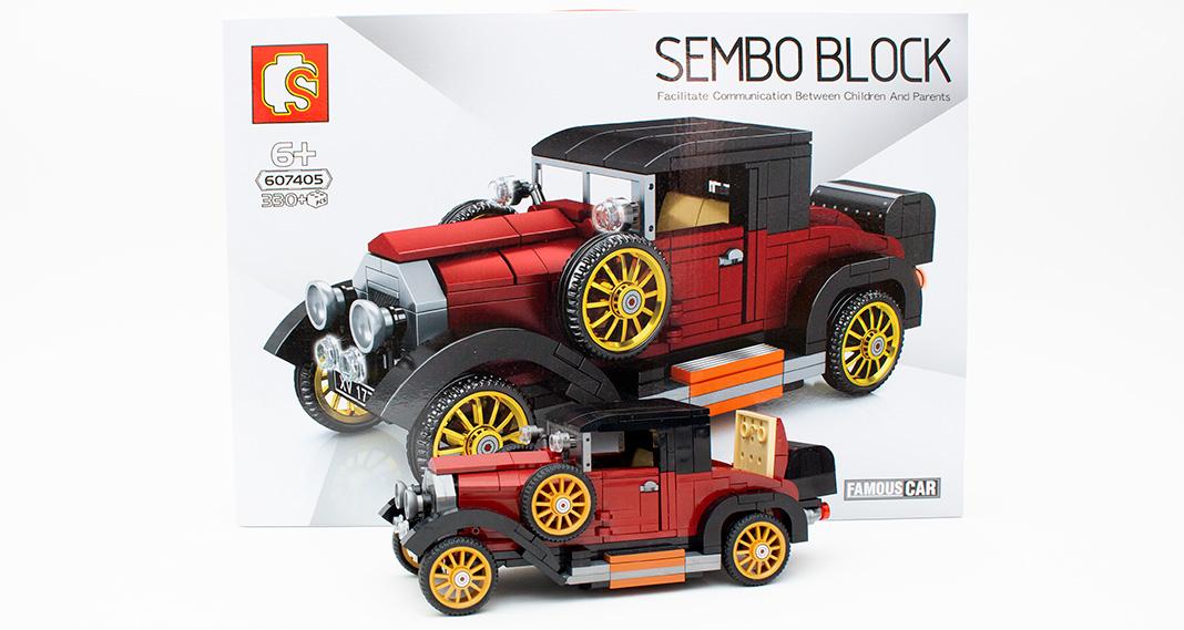 Sembo 607405 – Oldtimer in rot-schwarz im Review